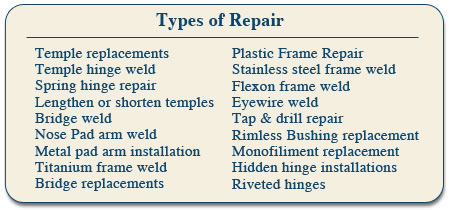 Eyeglass Frame Repair Atlanta : Eyewear Repair Express ~ Eyeglass Repair